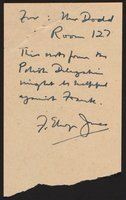 Letter to Thomas Dodd from Polish delegation