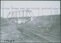 Trolley Bridge Over Central Vermont Railway, Stafford Springs