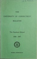 University of Connecticut Graduate Catalog, 1956-1957