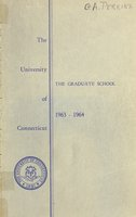University of Connecticut Graduate Catalog, 1963-1964