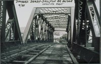 Damaged Derby-shelton Railroad Bridge, Looking East