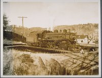 Locomotive on a turntable in Winsted