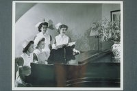 Student Nurses At Piano