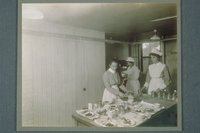 Preparing Trays, Middlesex Hospital