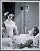 Student Nurse With Patient, Middlesex Hospital School Of Nursing