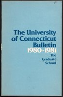 University of Connecticut Graduate Catalog, 1980-1981