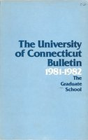 University of Connecticut Graduate Catalog, 1981-1982