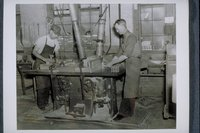 Workers At Double Spindle Shaper