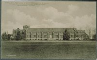 Hawley Armory From Athletic Field, Connecticut Agricultural College