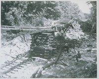 Bridge Repair Following Flood Of August 1955