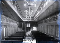 Interior view of New Haven Railroad coach 55