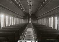 Interior view of New Haven Railroad coach 1163