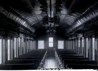 Interior view of New Haven Railroad coach 734