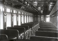 Interior view of New Haven Railroad coach (number unknown)