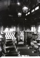Interior view of New Haven Railroad buffet/baggage car 2252