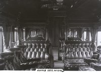 Interior view of New Haven Railroad buffet/baggage car 2255