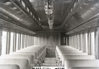 Interior view of New Haven Railroad combination car 2714