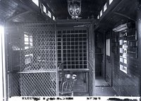 Interior view of New Haven Railroad express/mail/baggage car 3902