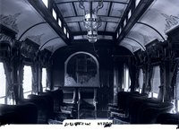 Interior view of New Haven Railroad parlor car 2112