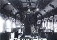 Interior view of New Haven Railroad dining car 2300