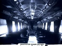 Interior view of New Haven Railroad observation/parlor car 2181