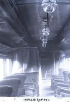 Interior view of New Haven Railroad invalid/funeral car 950