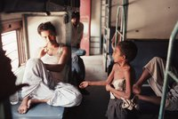 10 Year Old Begs On A Train In India