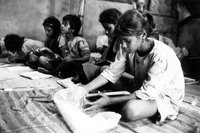 Students In Class At The Pudar School For Street Children
