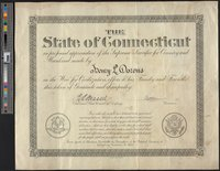 Dorons, Henry L., State of Connecticut sympathy certificate