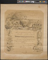 Hammond, George R., certificate of membership in Windham County Agricultural Society