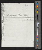 Fuller, Daniel Common Place book (photocopy)