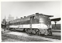 Baltimore and Ohio Railroad diesel locomotives 1462 and 1450