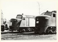 Amtrak locomotive 27 and Penn Central locomotive 4976