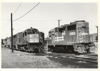 Conrail locomotive 3634 and Delaware and Hudson Railway locomotive 413