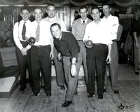 Bowling team of Hartford Electric Light Company employees