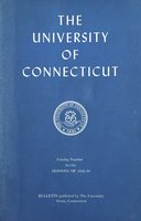 University of Connecticut bulletin, 1958-1959