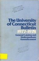 University of Connecticut bulletin, 1977-1978