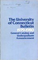 University of Connecticut bulletin, 1979-1980