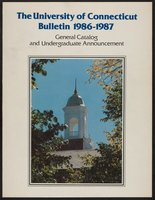 University of Connecticut bulletin, 1986-1987