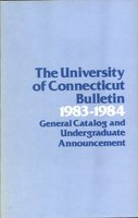 University of Connecticut bulletin, 1983-1984