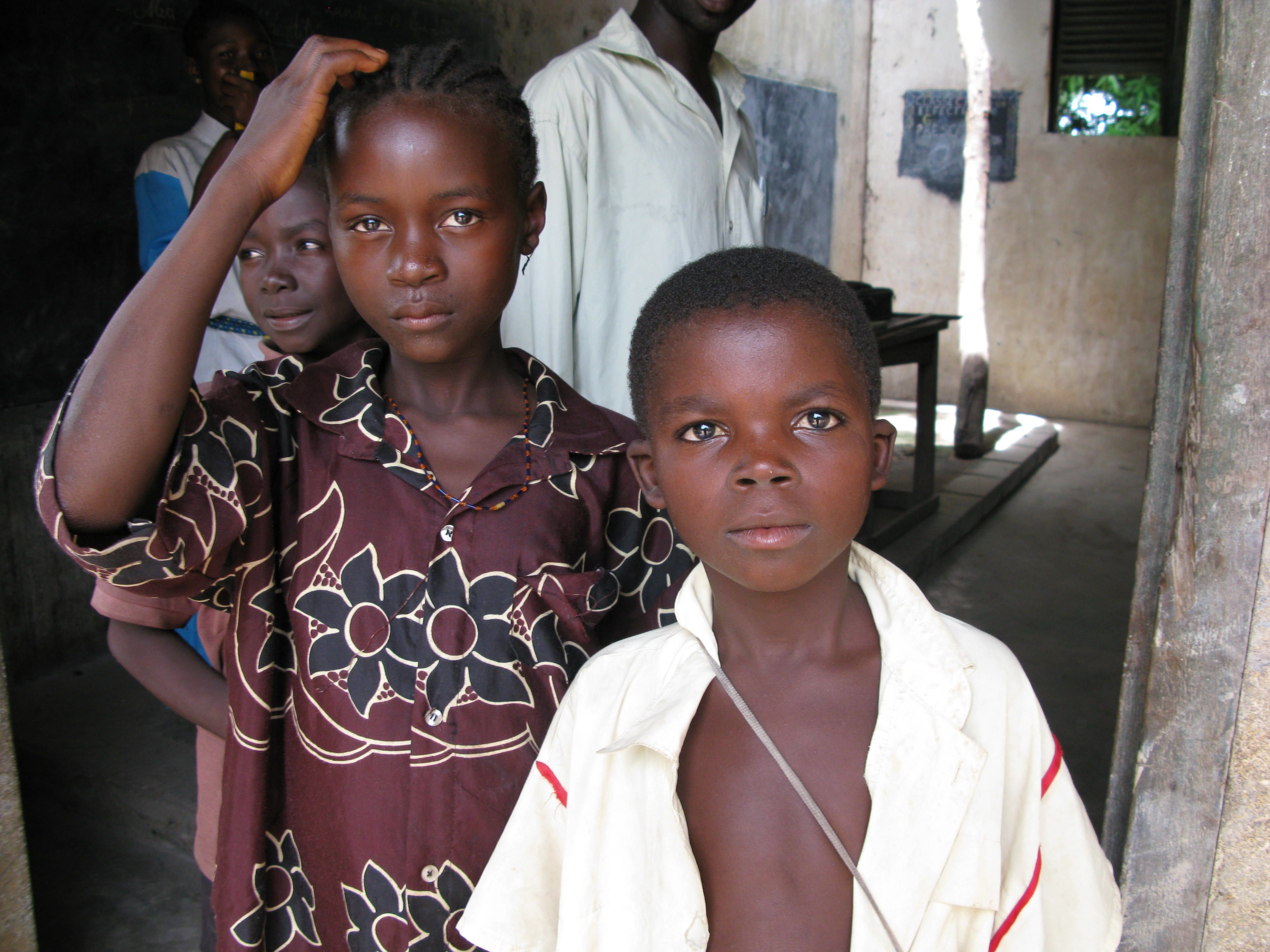 Boys in the Central African Republic.