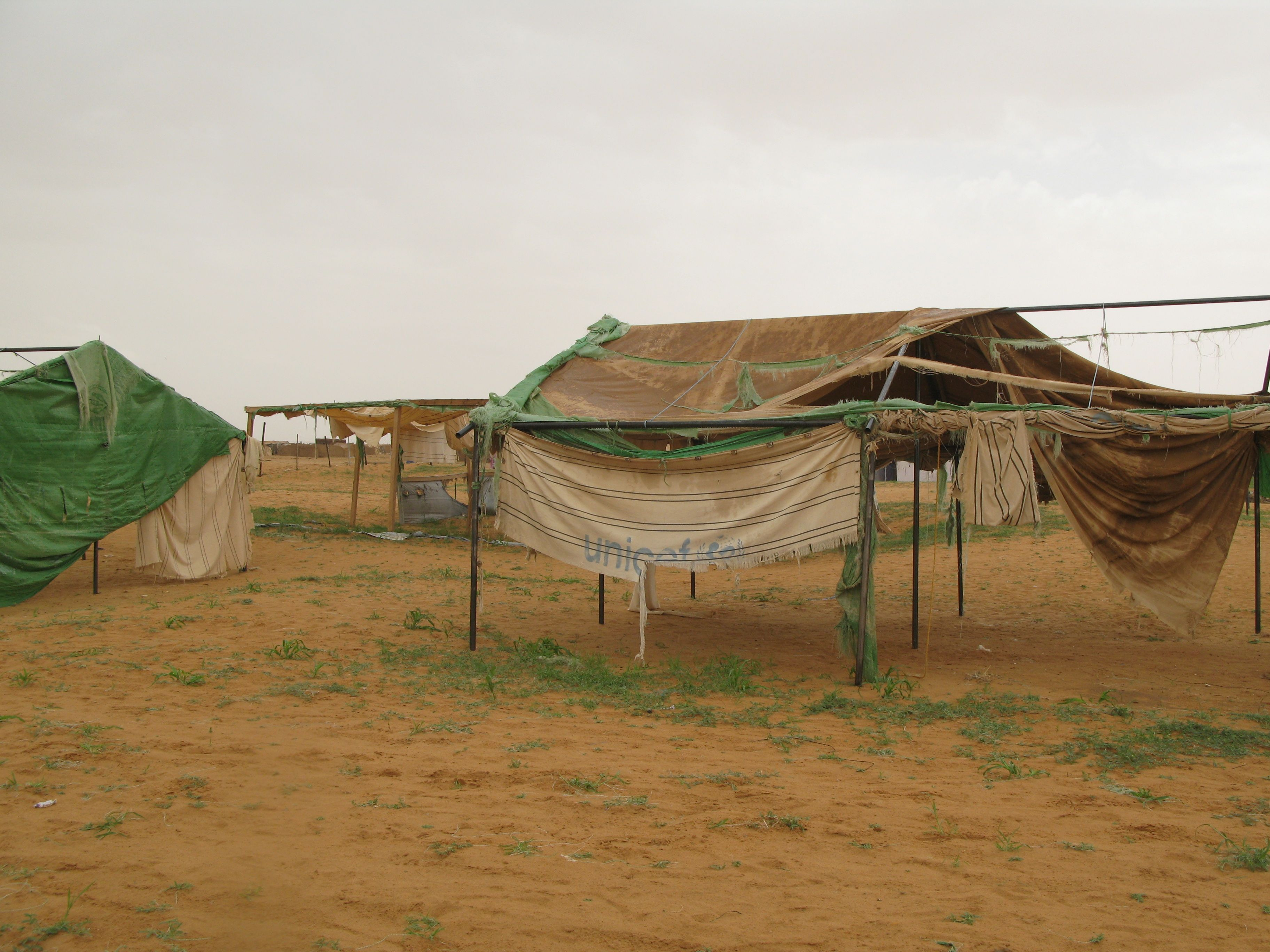 Temporary housing for refugees from Darfur in the Oure Cassoni refugee camp in Chad, near the border with Sudan