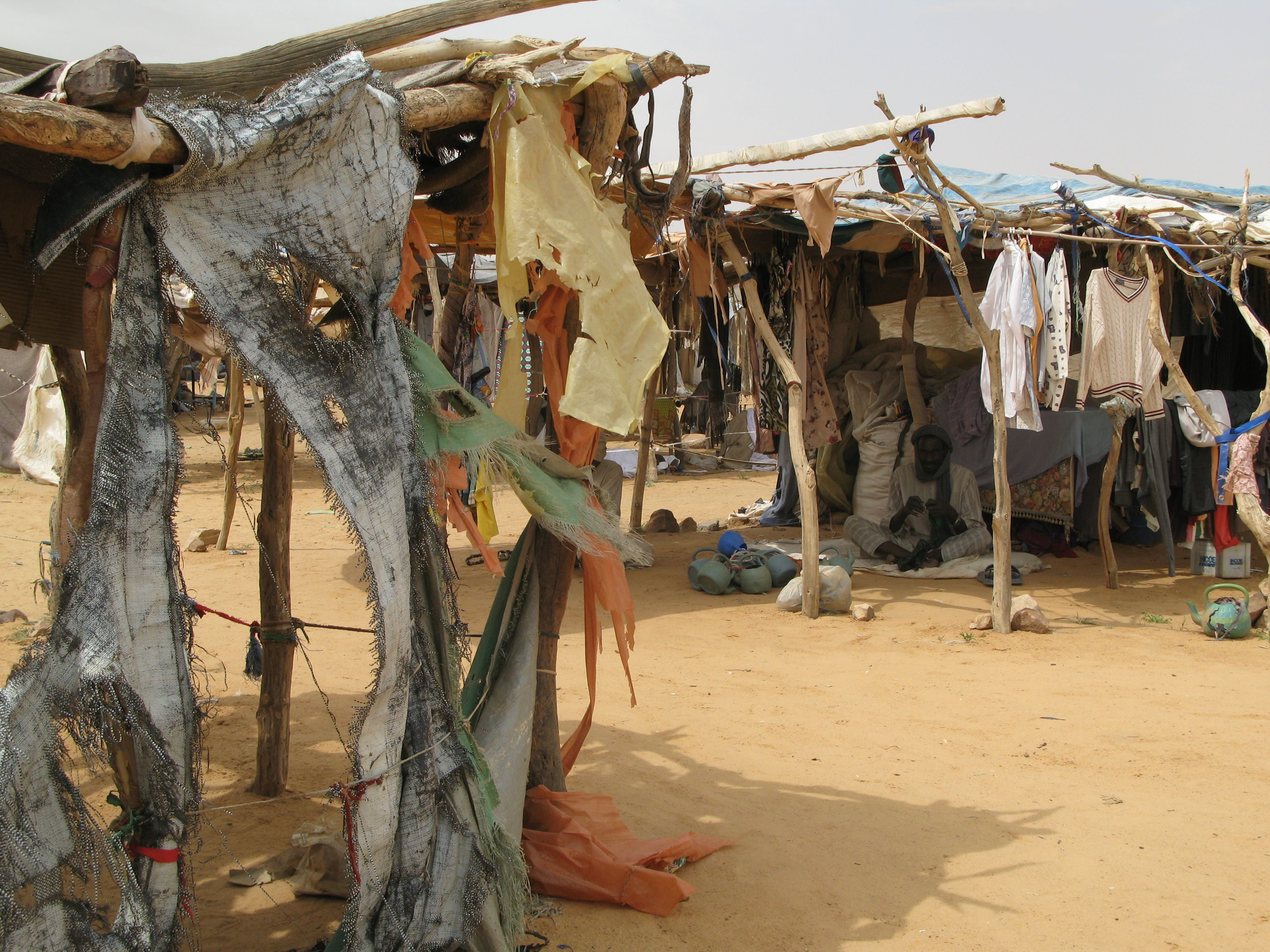 View of Oure Cassoni refugee camp in Chad