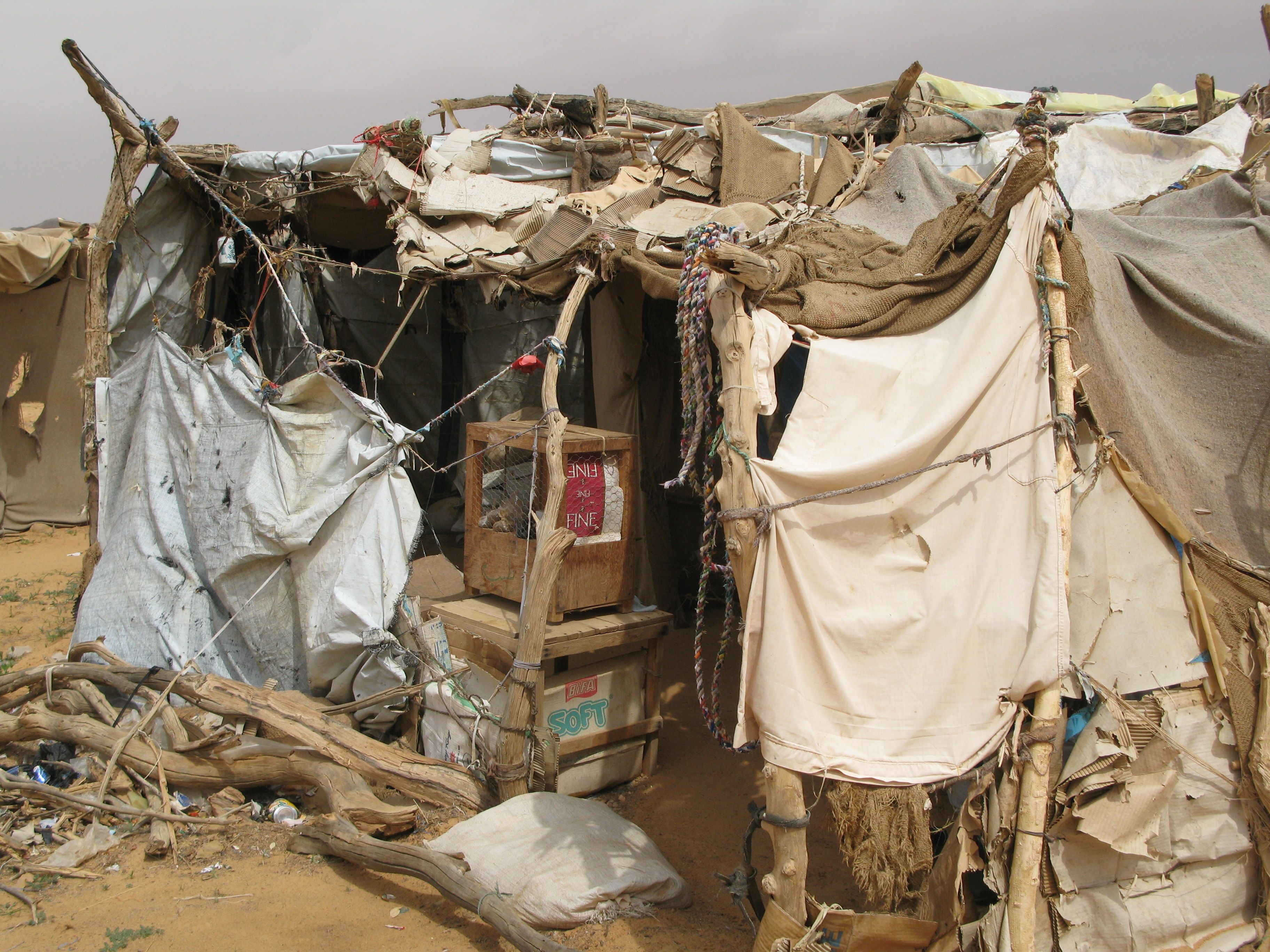 Temporary housing in the Oure Cassoni refugee camp in Chad
