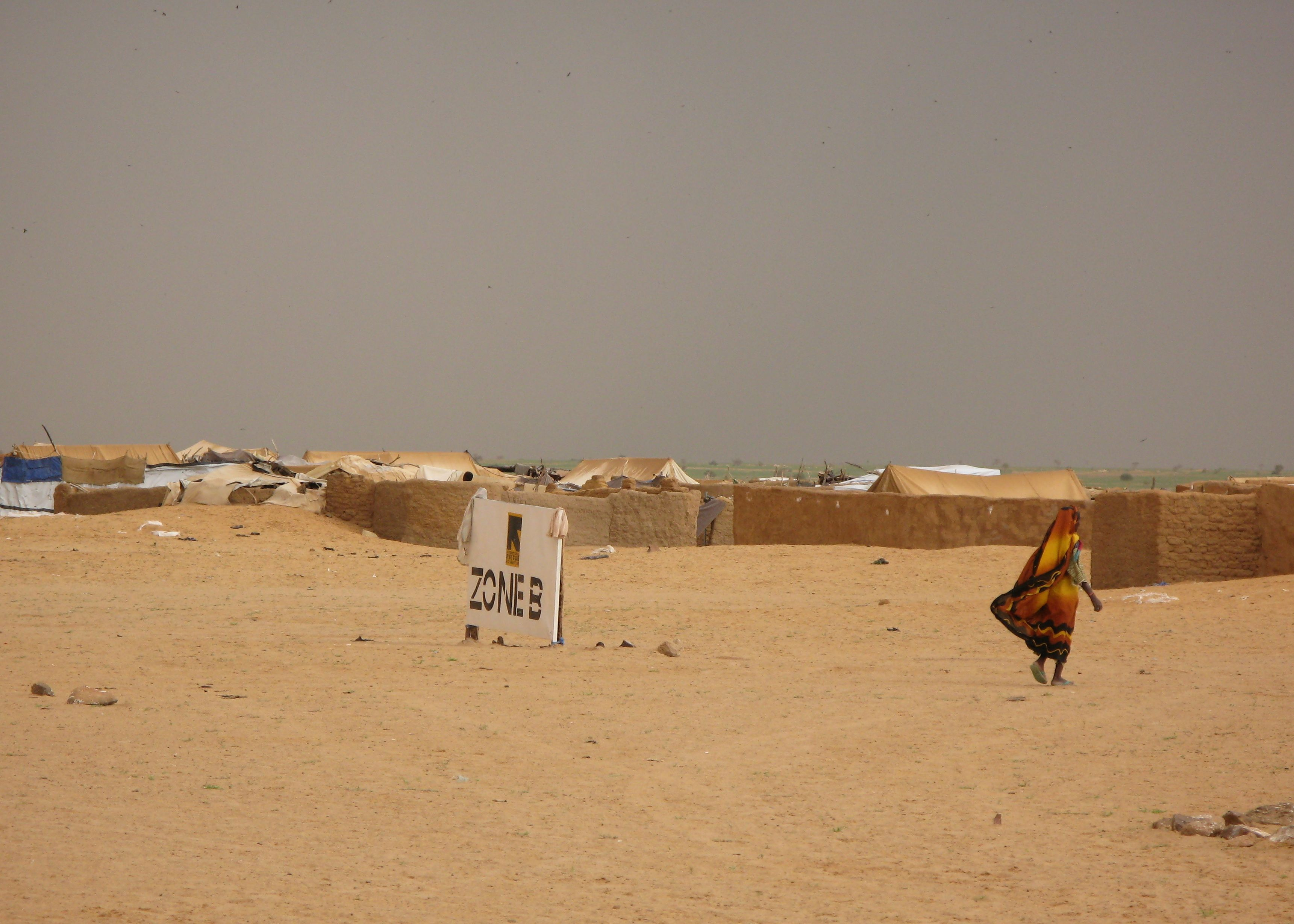 View of a refugee camp in the Central African Republic run by the International Rescue Committee
