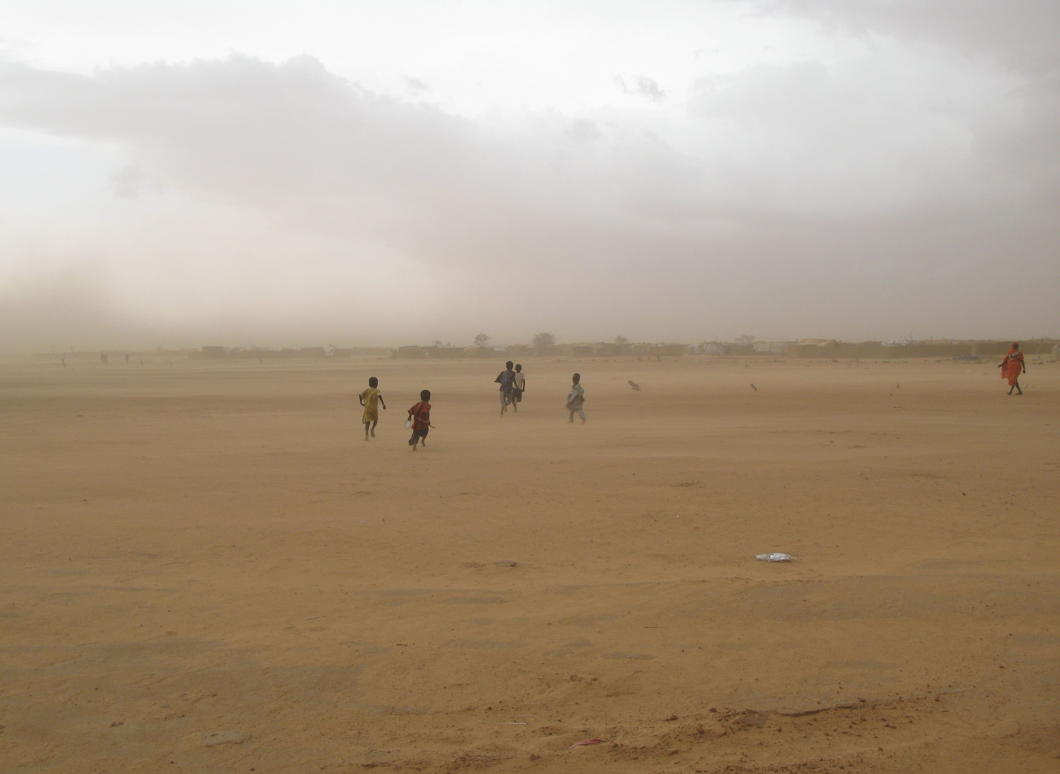 Boys fleeing violence along the border of Darfur and Chad