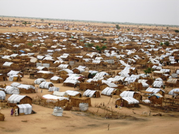 View of Zam Zam, internally displaced persons (IDP) camp in Darfur, Sudan