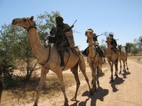 Janjaweed fighters in Darfur