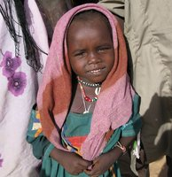 Darfuri girl at the Gaga Refugee Camp in Chad