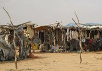 View of Oure Cassoni refugee camp in Chad near the border with Sudan